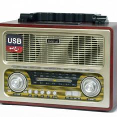 BOXA PORTABILA MP3 PLAYER,USB,RADIO FM,ACUMULATOR,DESIGN VINTAGE,SUNET HI FI.NOU