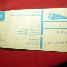 Legitimatie pe Metrou - Viena  Austria 1969 Sud Bahnhof pe 2 luni