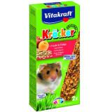 Baton hamster fructe-cereale, 2buc, 112gr, Vitakraft