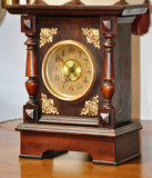 Ceas de semineu cu tambur muzical anii 1900 - 1910