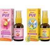 Pachet Pentru Copii Pufy Puf: Propolis Si Echinacea Spray Fara Alcool 20ml + Propolis Si Musetel Spray Fara Alcool 20ml