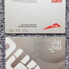 Pentru colectionari, card plastic transport public Dubai