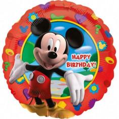 Balon folie metalizata 43cm Mickey Mouse Happy Birthday
