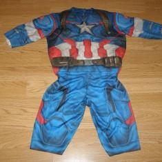 Costum carnaval serbare captain america pentru copii de 1-2 ani 12-18 luni, Din imagine