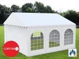 6x6 M CORT EVENIMENTE PROFESSIONAL XXL, PVC 550g/m² IGNIFUG ALB