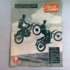 REVISTA SPORT SI TEHNICA NR.9/1966