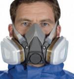 Cumpara ieftin Set complet masca respiratorie 3M 6200 + filtre + prefiltre + capace, masca 3M