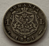 1 Leu 1881 Argint, Romania, VF