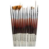 Set pensule pentru unghii Jerome Stage, 15 piese