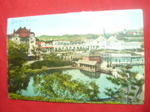 Ilustrata Baia Ocna Sibiului (Vizakna) color ,Ed.Jos Drotleft-Sibiu,interbelica
