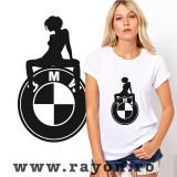 Cumpara ieftin Tricou Personalizat , Bumbac-BMW-GIRL