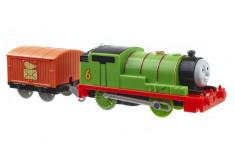Trenulet Percy Locomotiva Motorizata cu Vagon Thomas&Friends Track Master foto