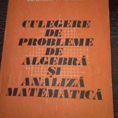 Culegere de probleme de algebra si analiza matematica Scrisă de Leonte V. Alexandru, Niculescu P. Constantin