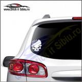 Skull Ford -Stickere Auto-Cod:VIS-077-Dim. 15 cm. x 11.9 cm.