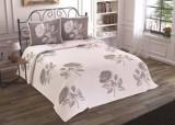 Patura de pat Valentini Bianco din acril, model Carmen Gri