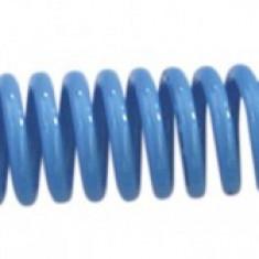 Furtun spiralat conectori aer comprimat din PU 10 x 6,5mm; 10m; 11-34 bari....