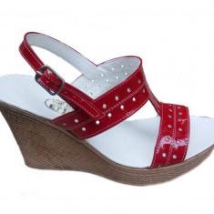 Sandale dama din piele naturala cu platforma S300RLAC
