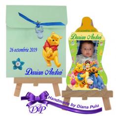 Marturii botez magnet biberon Winnie the Pooh Handmade by Diana Puiu MBBW 4