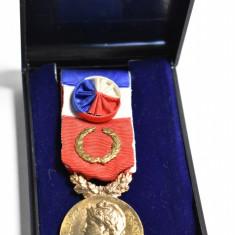 Medalie Republique Francais Ministere du Travail - Decoratie Franta 1985 #2