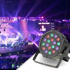 Cumpara ieftin Proiector LED RGB 18W, DMX512 controller disco, senzor sunet