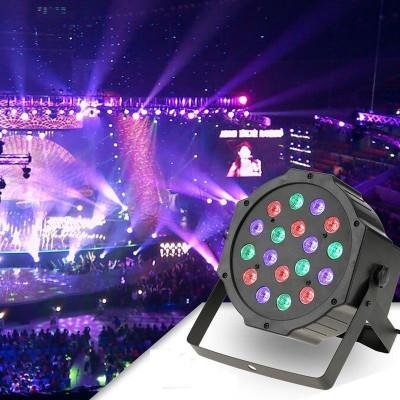 Proiector LED RGB 18W, DMX512 controller disco, senzor sunet foto