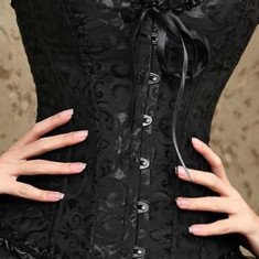 Set corset si chilot tanga dama Intimax, negru, marimea 36