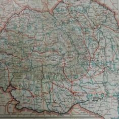 Harta Romania Mare, 47x67 cm, 1938, scara 1:250.000, ed. Drotleff Sibiu,