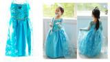 Costum Elsa Frozen rochie albastra 120 cm