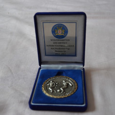 Medalie Wolverhampton Wanderers FC / Medalie Anglia placata cu argint si aur