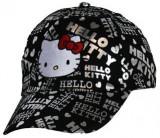 Cumpara ieftin Sapca Hello Kitty, 54 cm (7-10/12 ani), negru/ argintiu