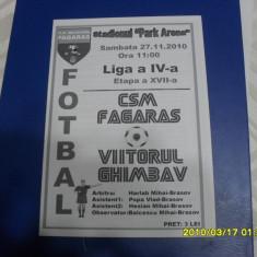 program      CSM  Fagaras  -  Viitorul  Ghimbav