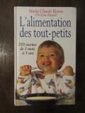 L'ALIMENTATION DES TOUT-PETITS-MARIE-CLAUDE BISSON