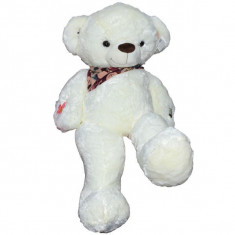 Ursulet de plus cu esarfa 100 cm