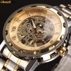 CEAS WINNER IMPERIAL GOLD SKELETON-LUX-ELEGANT-SUPERB-MODEL 2019-REDUCERE !!!, Mecanic-Manual, Placat cu aur