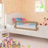 Balustradă protecție pat copii, gri taupe, 102x42 cm, poliester, vidaXL