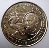 5.344 NIUE FRANZ BECKENBAUER FOTBAL 5 DOLLARS 1988 AUNC 38mm 50000ex. CERTIFICAT