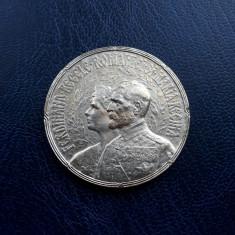 Medalie 1922 - regele Ferdinand si regina Maria - Incoronarea de la Alba Iulia