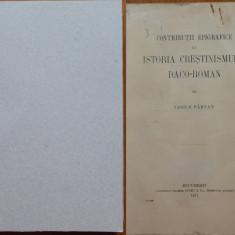 Parvan , Contributii epigrafice  la istoria crestinismului daco - roman , 1911