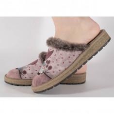 Papuci de casa bej din plus cu talpa cu memorie 191017