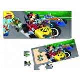 Mickey Si Pilotii De Curse- Puzzle Din Lemn-15 Piese, Disney