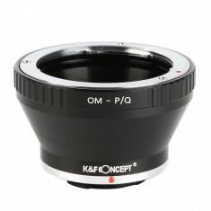 K&F Concept OM-P/Q adaptor montura de la Olympus OM la Pentax Q KF06.294