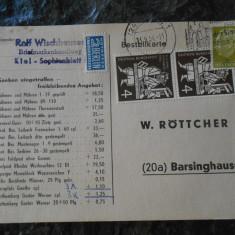 Carte postala Germania 1954, circulata, stare buna