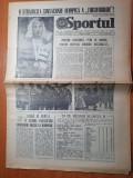 Sportul 13 august 1984-monica puica campioana olimpica,romania 53 medalii la J.O