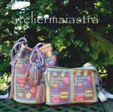 Cumpara ieftin Set genti crosetate ornamentate cu motivul popular din Oltenia flori