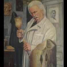 Portretul maestrului sculptor în lemn Ioan H. Sârghie - ulei pe panza C. Mandula