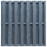 VidaXL Panou de gard cu șipci alternative, gri, 180x180 cm, lemn pin