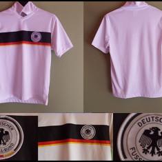 Tricou fotbal copii Nationala Germaniei Alb-Negru