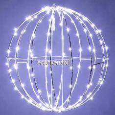 Glob luminos Craciun 240LED 50cm Alb Rece Prelungibil 1001W CL