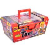 Set trusa cu unelte de jucarie pentru copii,, model cu 42 de accesorii, 36x22x17 cm