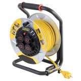 Prelungitor cu tambur, 4 prize, cablu H07 RN-F 3G1,5 mm2, 3200W, exterior IP44